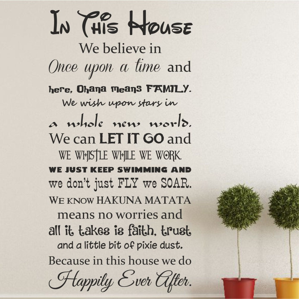 In this house we do happily ever after vinyl wall art zoom amipublicfo Image collections