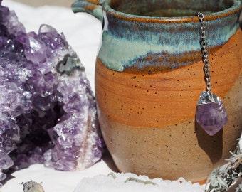 SALE Amethyst Crystal Tea Infuser ~ Stainless Steel Ball Loose Tea Leaf Strainer Herbal Spice Filter Diffuser
