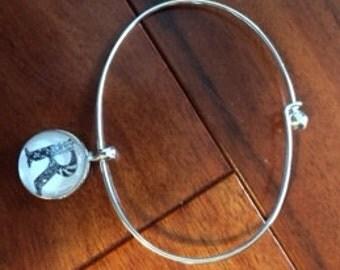 Personalized Zentangle® Inspired Art Bangle Bracelet