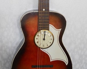 Vintage Silverton Palor Guitar Wall Clock