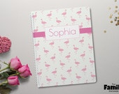 Flamingo Personalized Spiral Notebook, Custom Journal, 8.5 x 11, Personalized  Stationery, Pink Notebook, Back To School Supplies, TFS/NB002