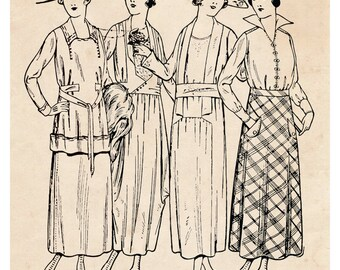 Art Deco Print, Flapper Art, Couture, Fashion Illustration, 1920s Dress, 20s Dress, Vintage Deco Print, Vintage Art, Vintage Illustration