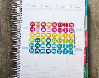 Travel sticker, car sticker, suitcase stickers, planner stickers, calendar stickers, camera sticker, to do eclp filofax happy planner kikkik