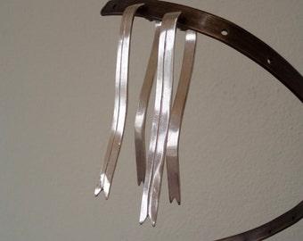 Ribbons earrings |Long silver earrings |Gauge earrings |925 sterling silver ribbons Earrings |Handmade silver earrings