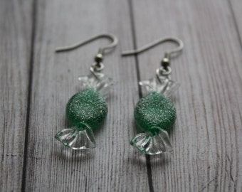 Acrylic Candy Earrings - Holiday Jewelry – Acrylic Earrings - Dangle Earrings