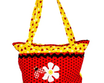 Lady Bug Daisy Diaper Bag Handmade ONE OF A KIND All Purpose