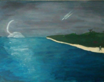 Another World - A painting based on alternate realities 45x35cm