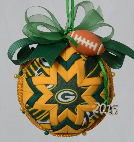 green bay packers quilted ornament christmas ornament nfl