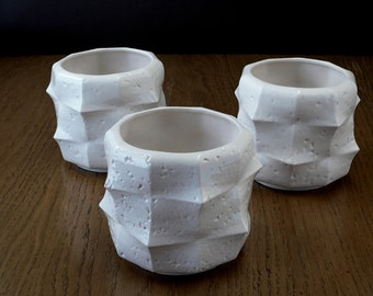 Sculptural ceramic flower pot