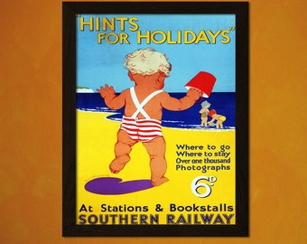 Sothern Railways Travel Poster - Vintage Travel Print Dorm Poster Tourism Wall Decor Retro Poster Beach Poster Baby Poster   Reproduction