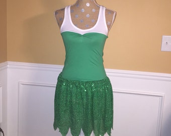 TINKER BELL Fairy Inspired Running costume outfit skirt/tank top halloween