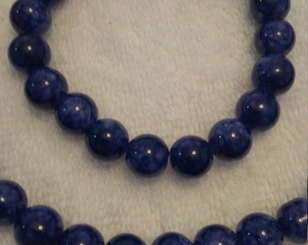 Purple Beaded Jewelry Set   (#461)