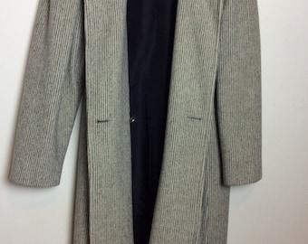 Vintage Wool Pinstripe Coat