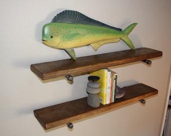 Industrial pipe shelving, Reclaimed wood shelf, Pipe shelves, Pipe shelving, Floating shelf, Rustic shelf, Barn wood