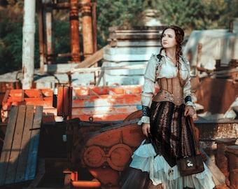Steampunk costume, steampunk corset