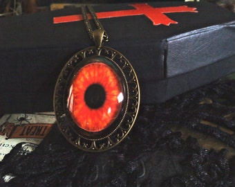 Red Eyed Cabochon Necklace