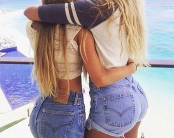 Be·Plain Jane - Levi / LEE / Wrangler etc High Waisted Shorts - Blue
