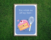 Greeting Cards | Whisk Me off My Feet Card Romantic, Anniversary, Love, Valentines, Cake Cute, Funny Pun Silly, Quirky Card