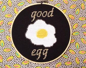 Good Egg- Cross Stitch