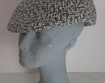 Unisex CUBAVERA Driving Cap Perry Ellis Woven Salt 'N Pepper