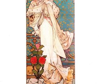 Poster for Sarah Bernhardt Farewell America Tour by Alphonse Mucha