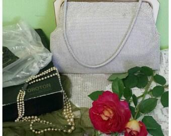 Oroton Glomesh Handbag 80s Mesh Bag Art Deco Style Frame and Clasp