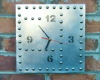 Industrial Inspired Aluminum Wall Clock