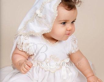 Gwen Lace Christening Blanket