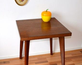 Table vintage wooden, Scandinavian style, foot compass,
