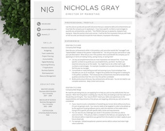 Professional Resume Templates for Word AND Pages + Free Cover Letter + Tips  | One,