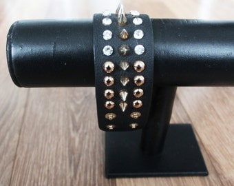VTG 90s Studded Pleather Cuff