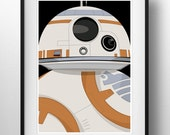 The Force Awakens BB8 - Poster Print