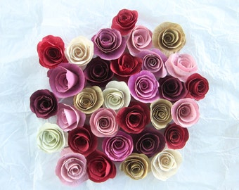 Seed Paper Roses, Seed Paper Flowers, Paper Roses, Valentine's Day Gift, Wedding Favor, Seed Paper Favor, Mother's Day Gift, Paper Flowers