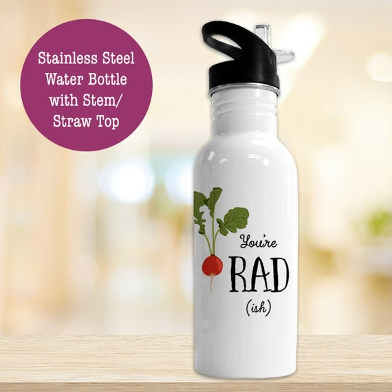 Stainless Steel Water Bottle - You're Radish - Funny Veggie - BPA Free Eco Friendly Water Bottle