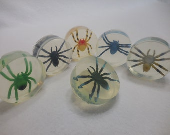 Spider Soap - Halloween Party Favor - Fun Moisturizing Soap - Homemade Kid Gift - Handmade Glycerin Soap - Childrens Soap - Toy Soap - 10 pk