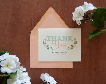 Modern Vintage Thank You Card, Prints (Sold in Sets of 10)