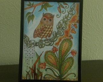 "5"" x 7"" Tabletop Framed Tangle Art - ""Naomi"""