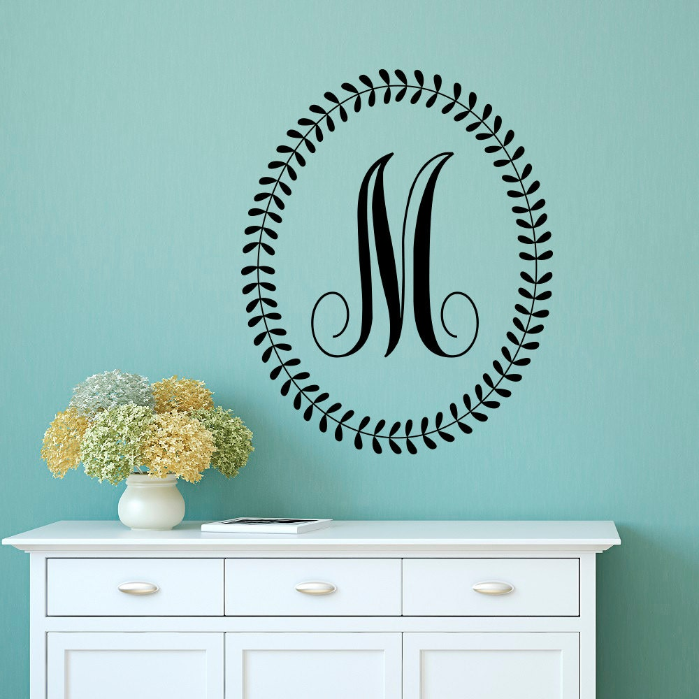 letter wall decals initial wall decal letters personalized initial letters 17245
