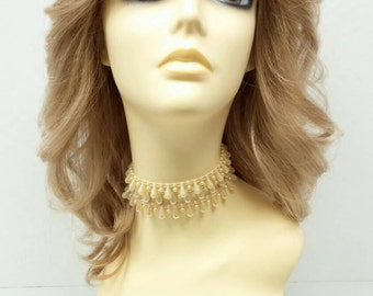 14 inch Farrah Fawcett Style Dirty Blonde Costume Wig.