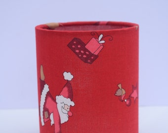santa decorations, christmas lantern, red christmas, red lantern, christmas reindeer, christmas lights, red lampshade, father christmas