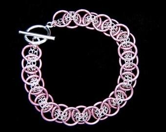 Pink Bracelet, Unique Bridal Jewelry, Wedding Jewelry, Bridal Fashion Jewelry, Bracelet, Feminine Bracelet, Handmade Bridal Jewellery