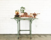 Vintage Metal Cart - Typewriters Desk Pistachio Green