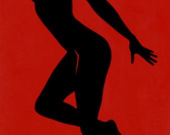 Sarah Scotchman - Rita Black - Part of the Bond Girl Series - Acrylic on Box Canvas 60 x 120cm