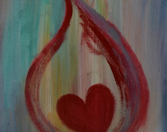 A Heart Consumed 11 x 14 Prophetic Painting
