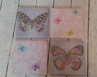 Set of 4 butterfly canvas'