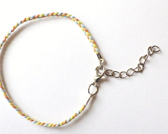 Ibiza thread plait bracelet
