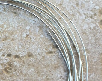 Sterling Silver Wire - 16 gauge solid .925 Sterling Silver Wire, soft wire, perfect for wire wrapping.  Sold by the foot - G873