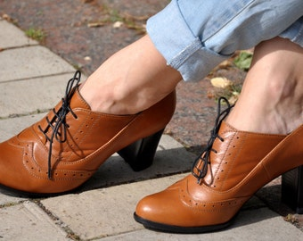 Kent - Oxford Pumps, Womens Oxfords, Heeled Oxfords, Chic Leather Shoes, Custom Shoes, Oxford Heels, FREE customization!!!
