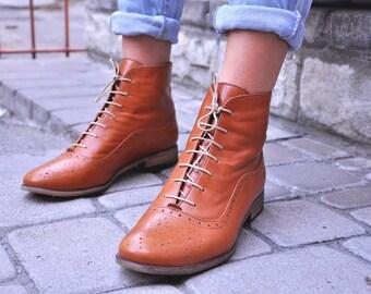 Camden - femmes automne bottes, lacets en cuir, bottes, Oxford, bottes, bottines rétro, bottes d'hiver, bottes sur mesure, personnalisation gratuite!!!