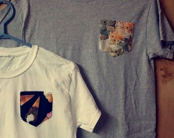 Cat pocket t-shirt